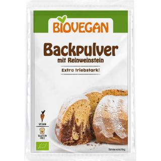 Biovegan BIO-Backpulver, 4x 17 gr Packung