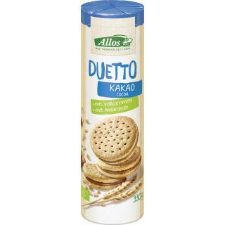Duetto-Doppelkeks mit Kakao-Creme