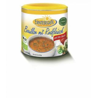 Bouillon mit Rindfleisch
