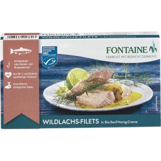 Wildlachs-Filet in Senf-Honig-Creme