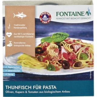 Thunfisch (für Pasta Oliven, Kapern & Tomate)
